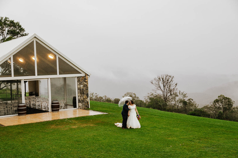 Wedding Photography - foggy field