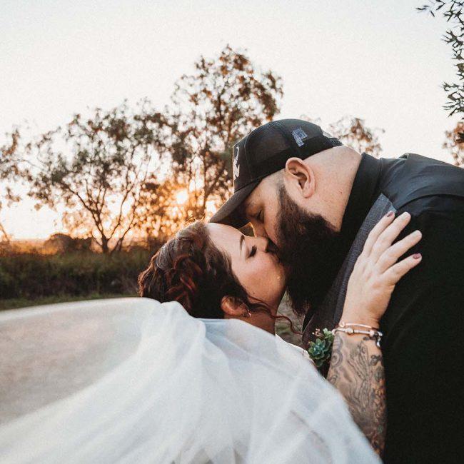 Wedding Photography - sunset kiss