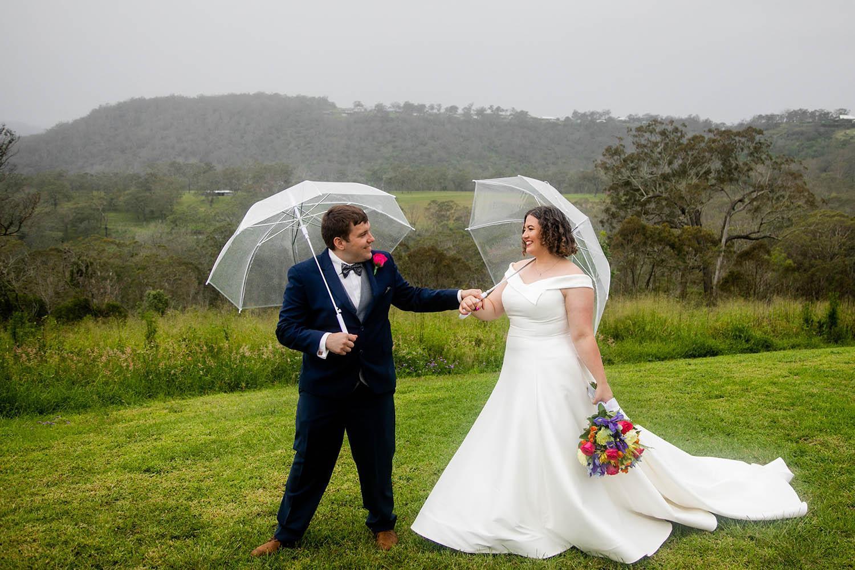 Wedding Photography -under umbrella