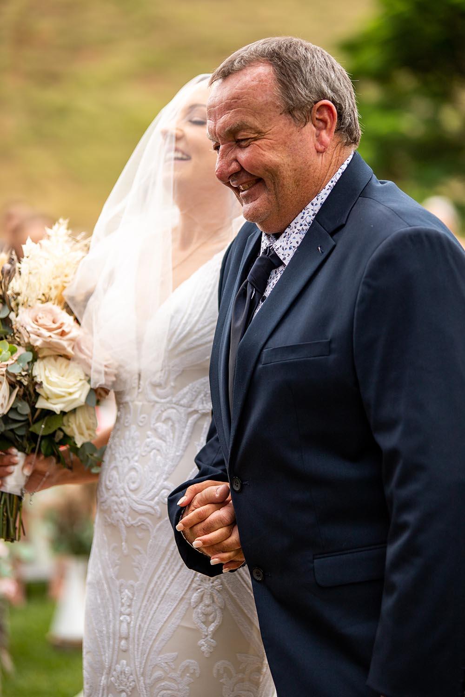 Wedding Photography - Bride & Father isle