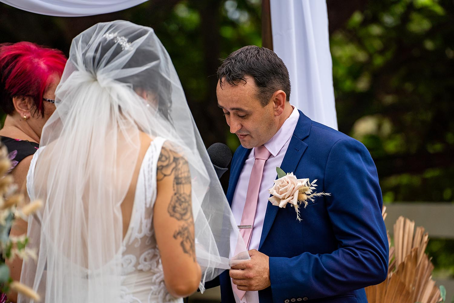 Wedding Photography - Reading Vows
