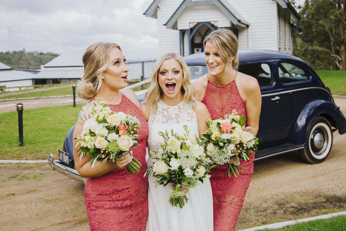 Wedding Photography bride with bridesmaids