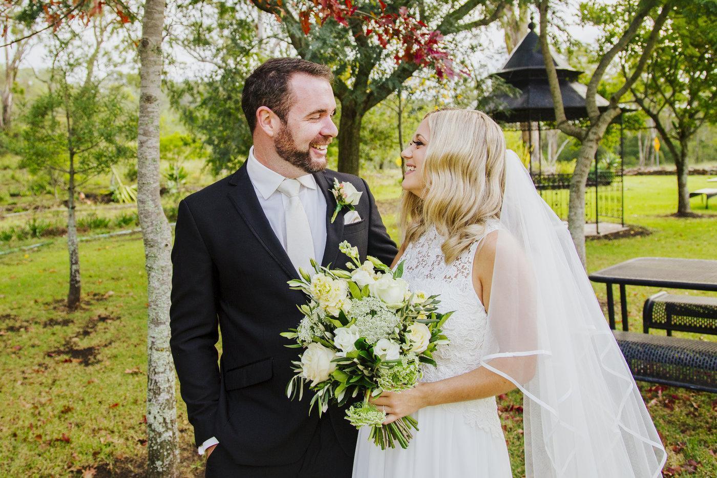 Wedding Photography couple exchanging loving glances