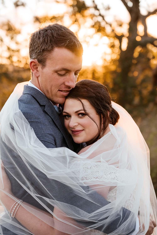 Wedding Photography - Bride and Groom Embracing