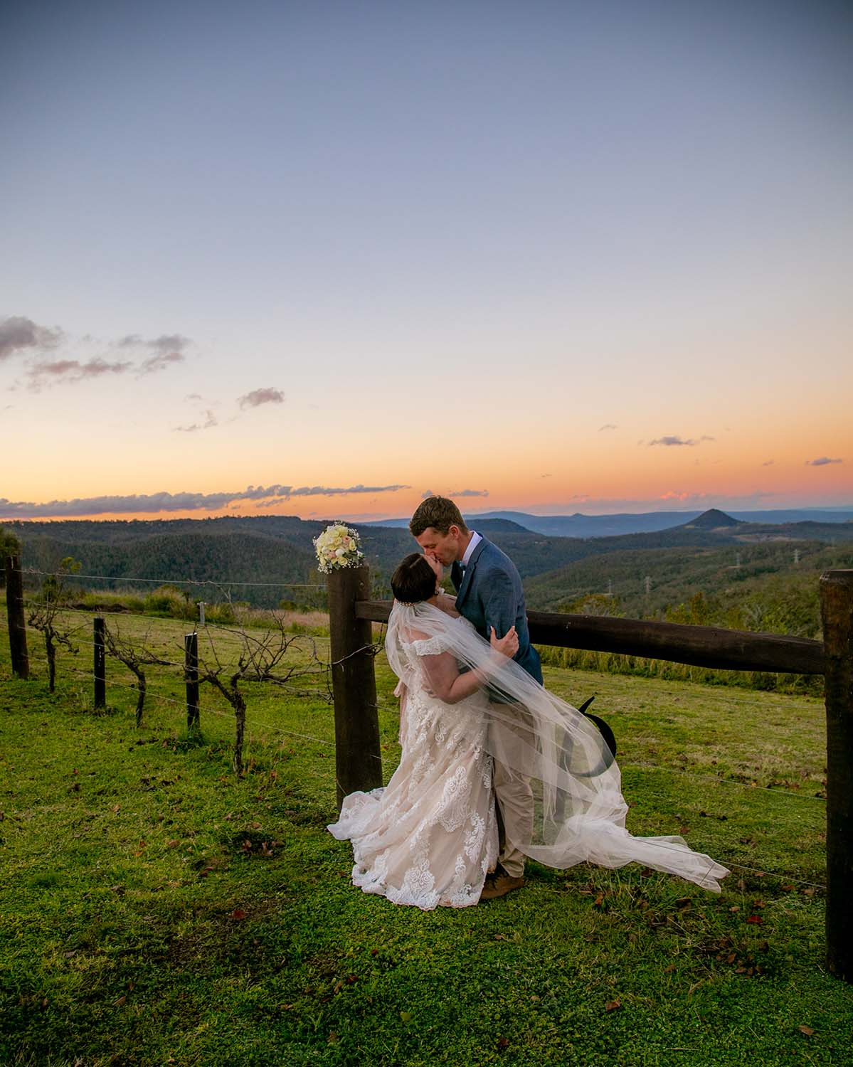 Wedding Photography - Bride and Groom at sunset