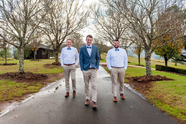 Wedding Photography - Groomsmen Walking