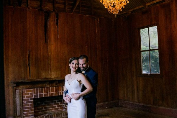 Wedding Photography - Bride and Groom in Rustic setting