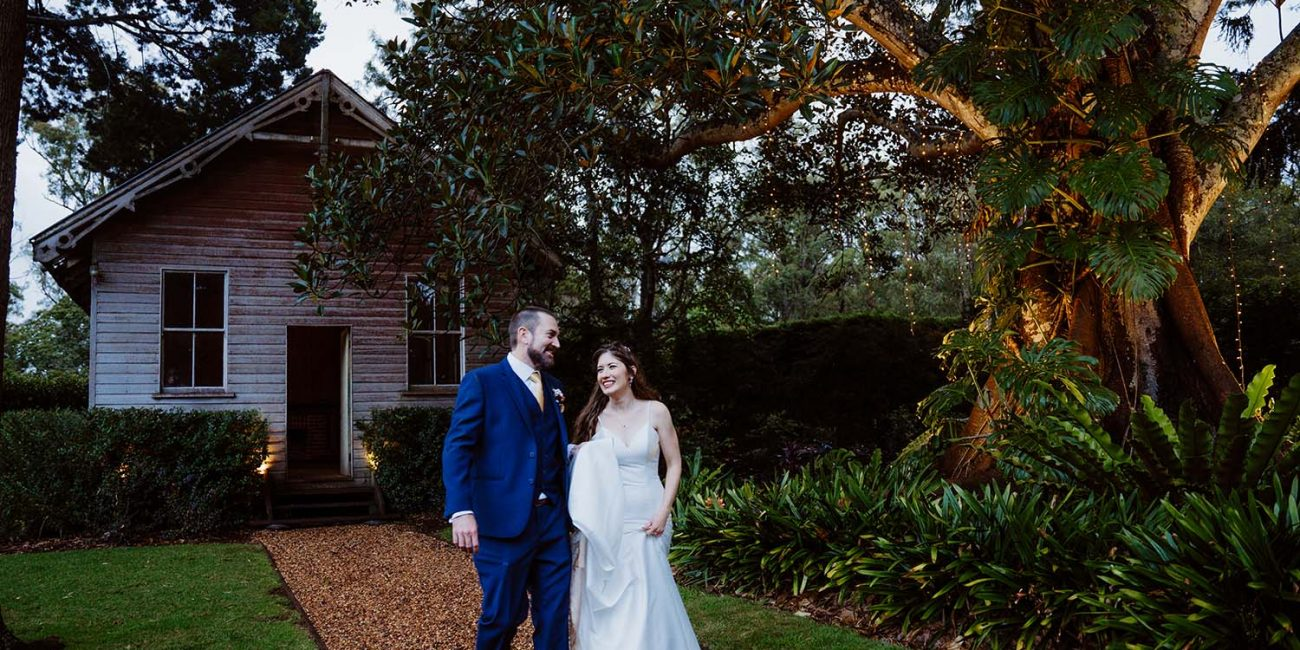 Wedding Photography - Bride and groom walking