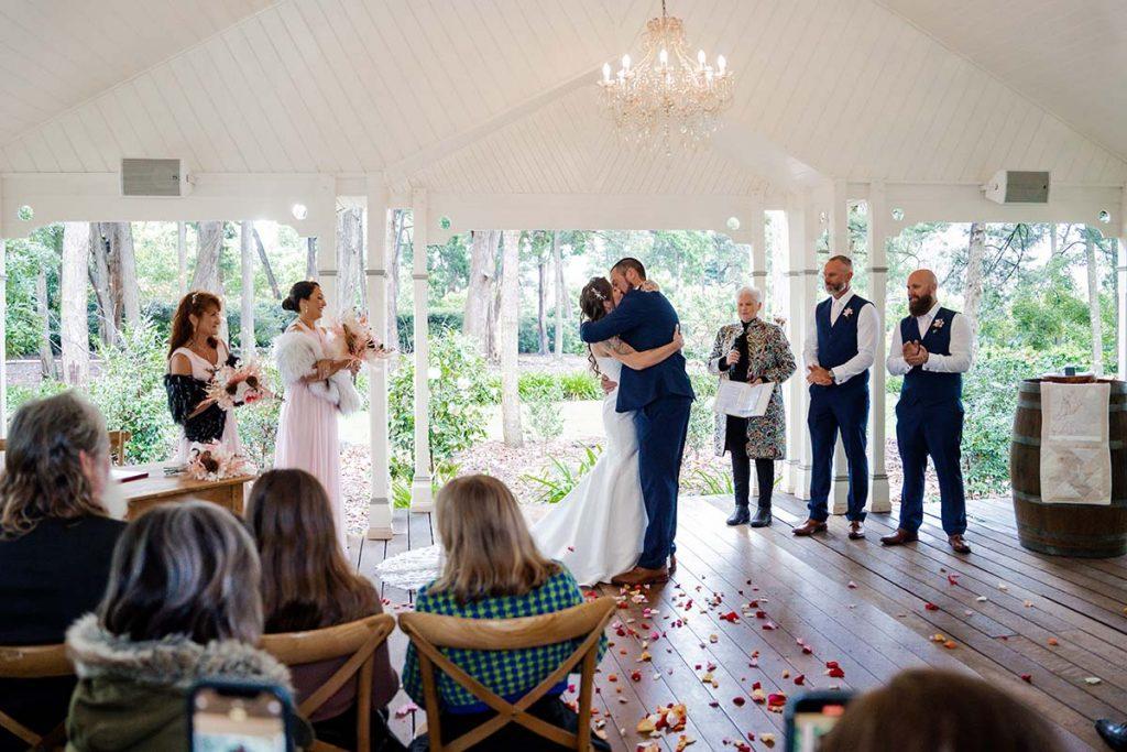 Wedding Photography - Ceremony Kiss