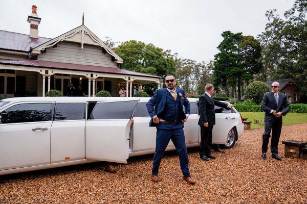 Wedding Photography - Exiting Limo
