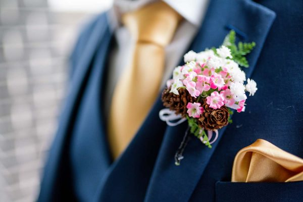 Wedding Photography - Groom Suit Close Up