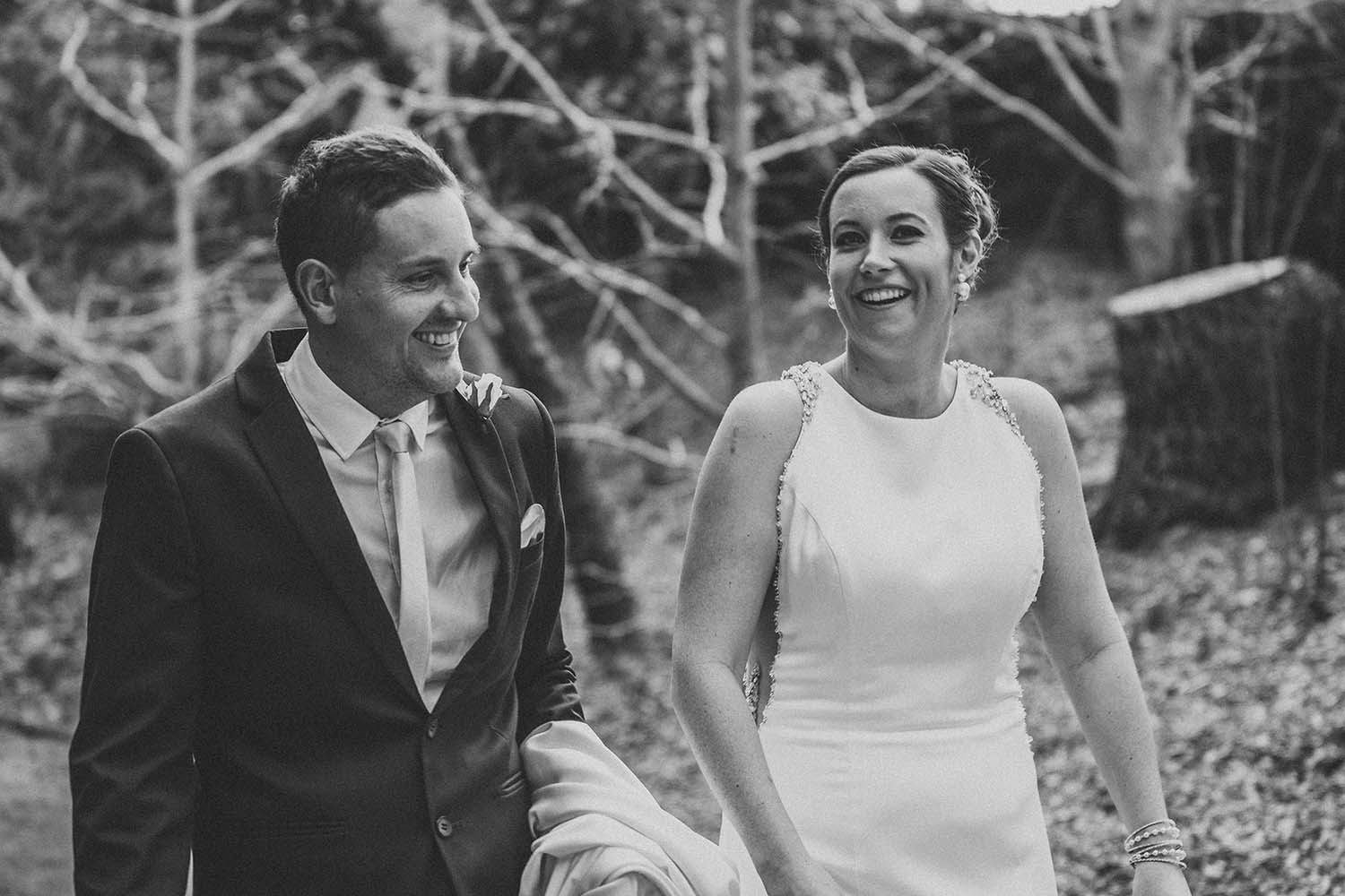 Wedding Photography - bride and groom black and white