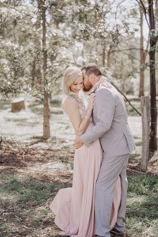 Wedding Photography - Bride and groom on swing