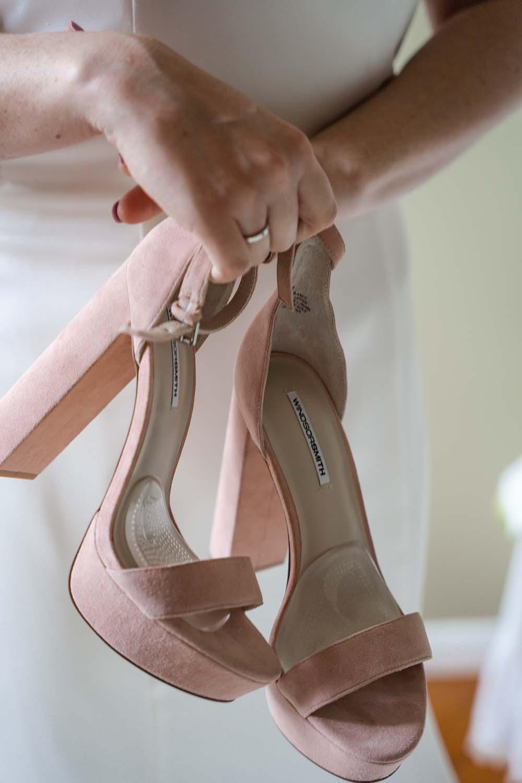 Wedding Photography - brides shoes