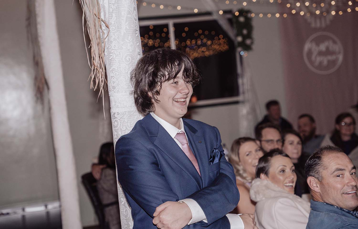 Wedding Photography - reception guest candid