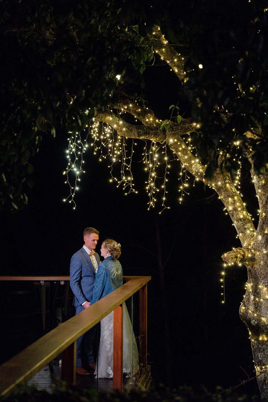 Wedding Photography - bride and groom under fairy lights