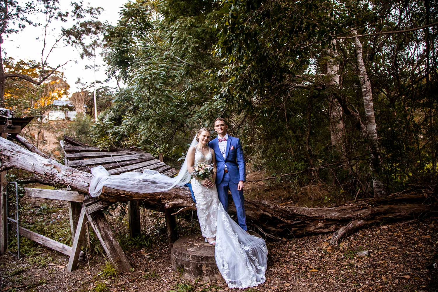 Wedding Photography - Bride and Groom outside